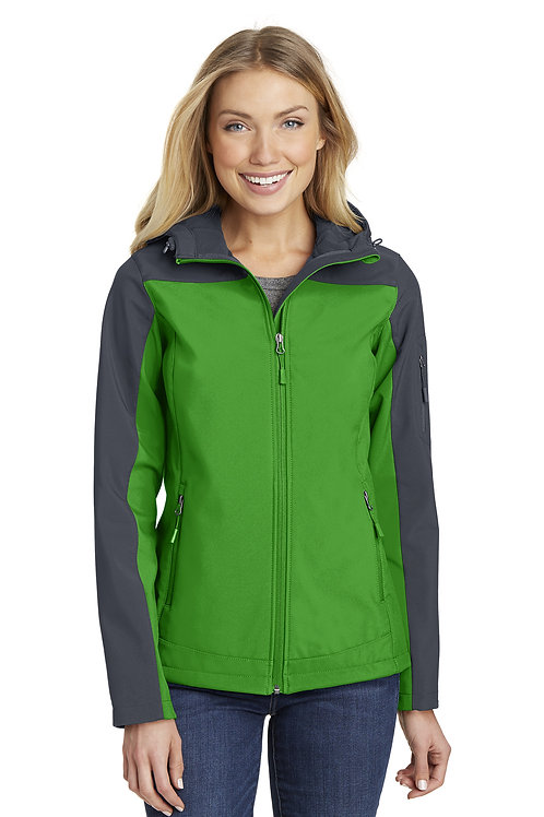 Port Authority® Ladies Hooded Core Soft Shell Jacket L335