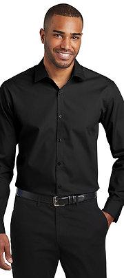 Port Authority Slim Fit Long Sleeve Carefree Poplin Shirt W103