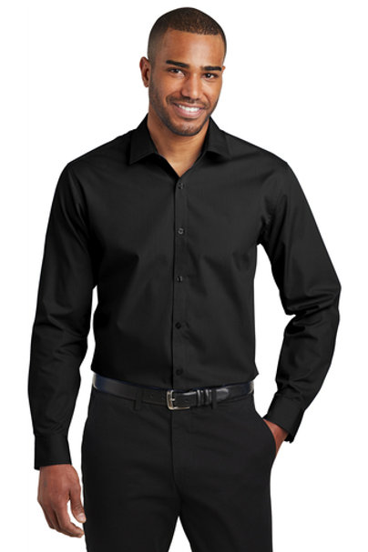 Port Authority Slim Fit Long Sleeve Carefree Poplin Shirt W103