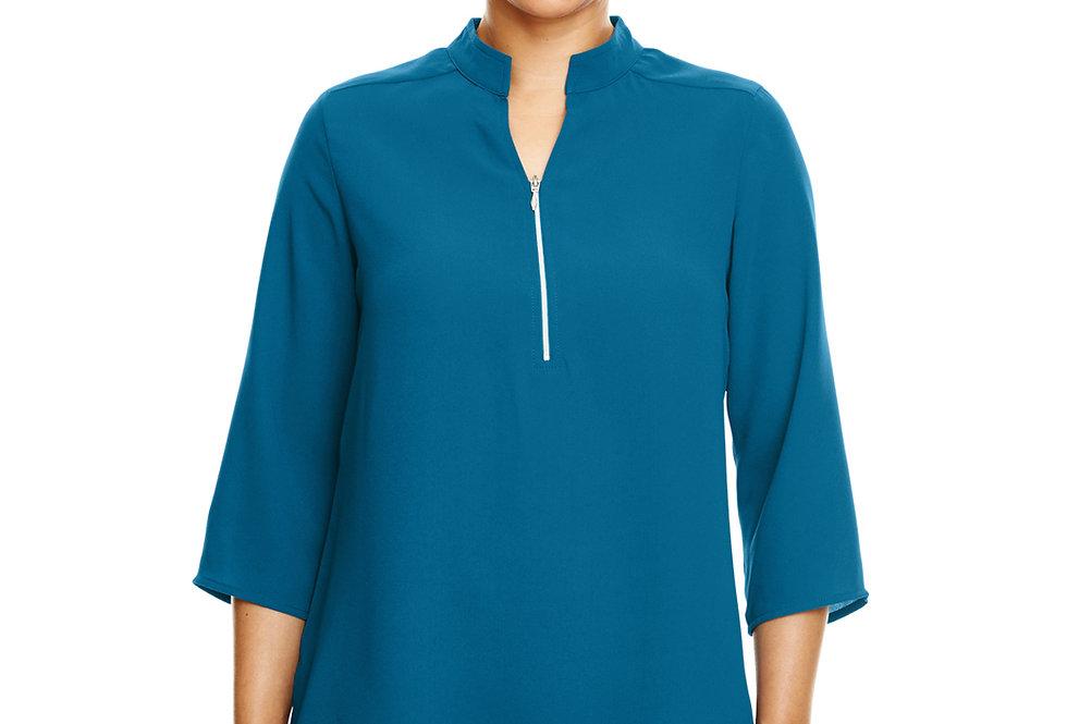 Devon & Jones Ladies' Perfect Fit™ 3/4-Sleeve Crepe Tunic DP611W