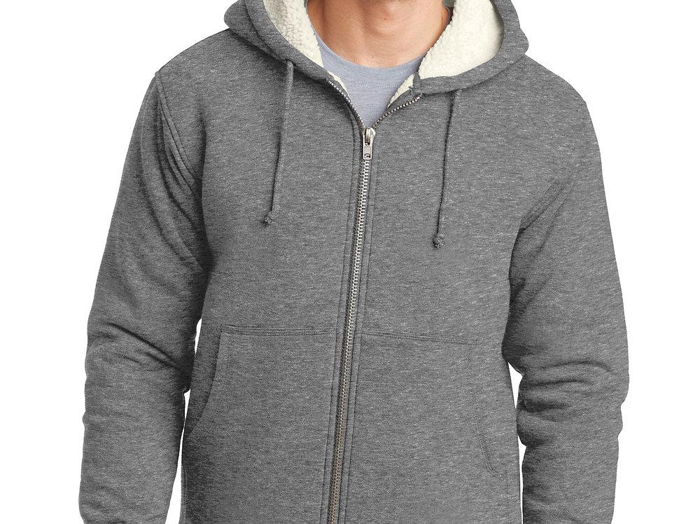 CornerStone® Heavyweight Sherpa-Lined Hooded Fleece Jacket CS625