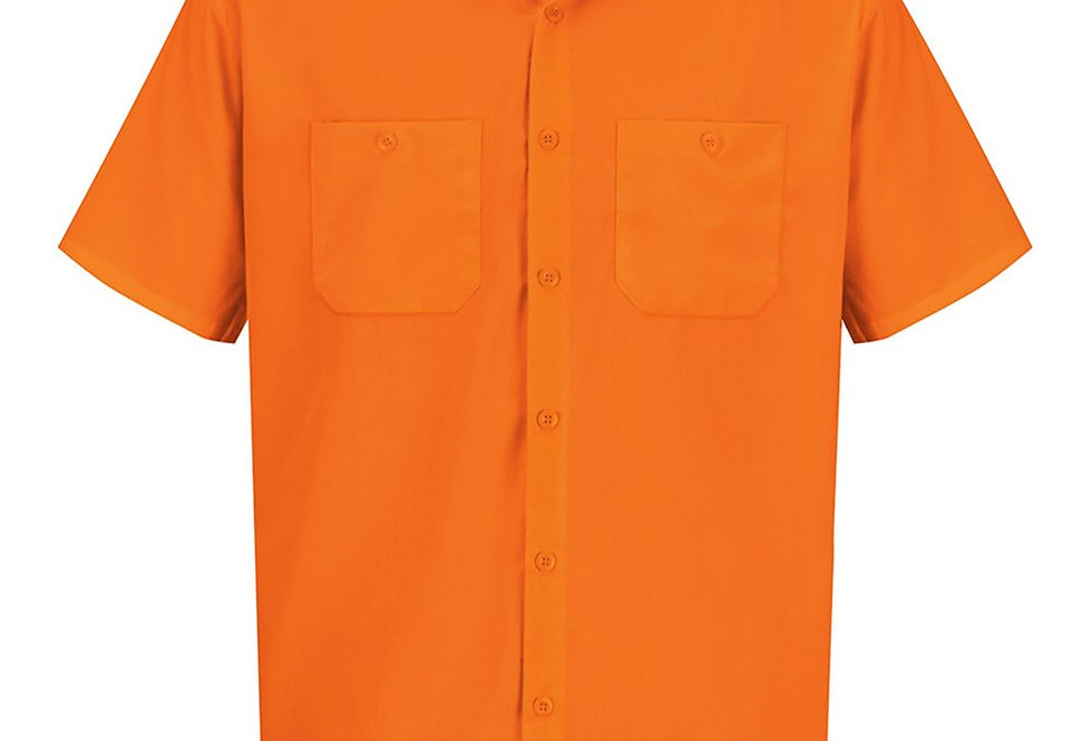 Red Kap - Enhanced Visibility Short Sleeve Work Shirt Tall Sizes - SS24L