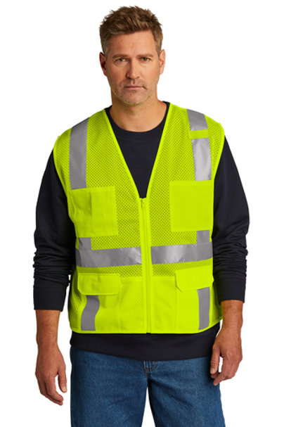 CornerStone® ANSI 107 Class 2 Mesh Six-Pocket Zippered Vest CSV104