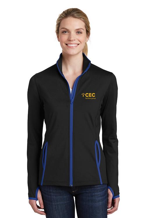 Sport-Tek® Ladies Sport-Wick® Stretch Contrast Full-Zip Jacket LST853