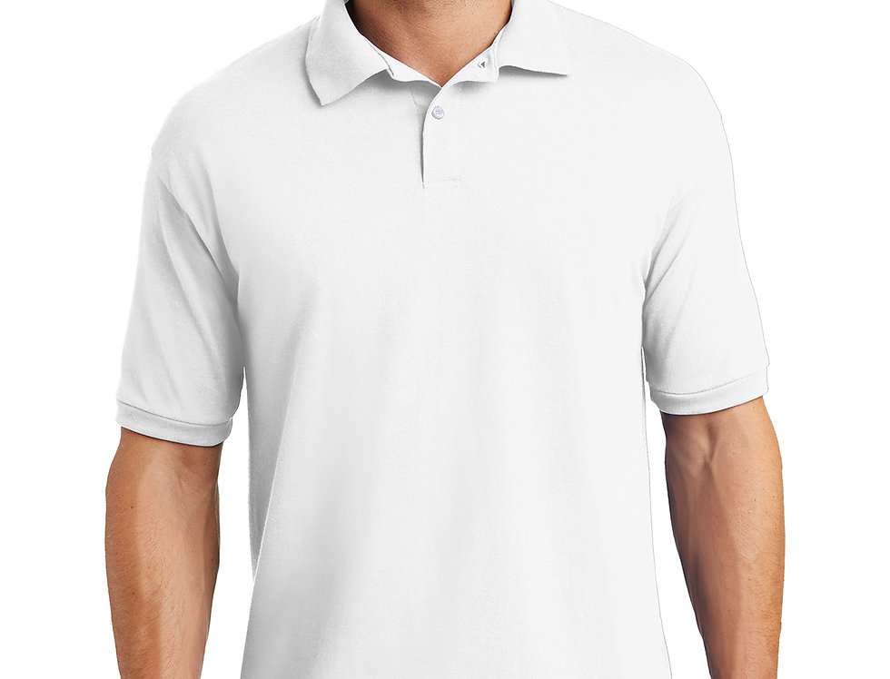 Hanes EcoSmart 5.2-Ounce Jersey Knit Sport Shirt 054X