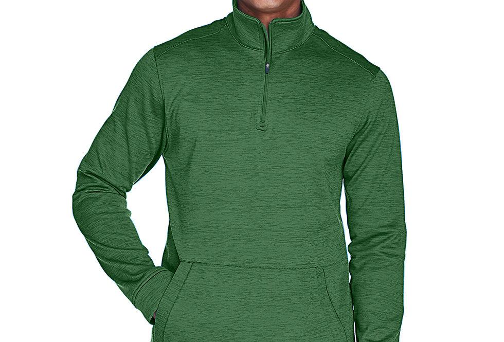 Devon & Jones Men's Newbury Mélange Fleece Quarter-Zip DG798