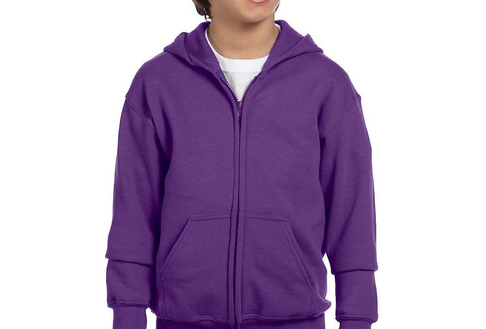 Gildan Youth Heavy Blend™ 8 oz., 50/50 Full-Zip Hood G186B