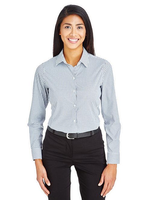 Devon & Jones CrownLux Performance™ Ladies' Micro Windowpane Shirt DG540W