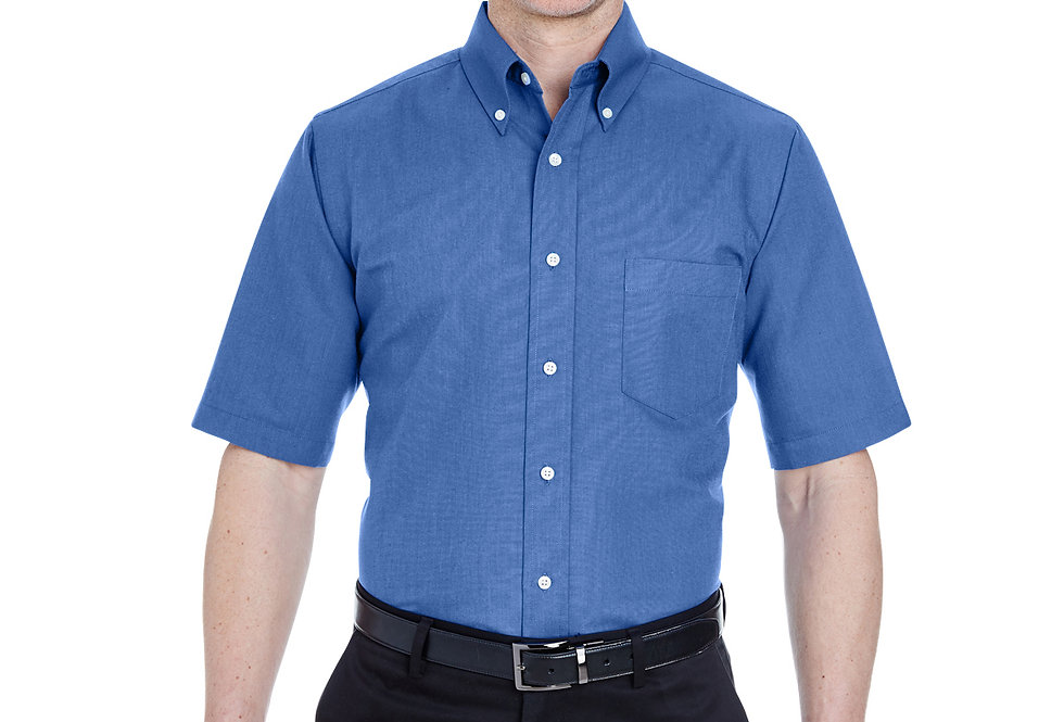 UltraClub Men's Tall Classic Wrinkle-Resistant Short-Sleeve Oxford 8972