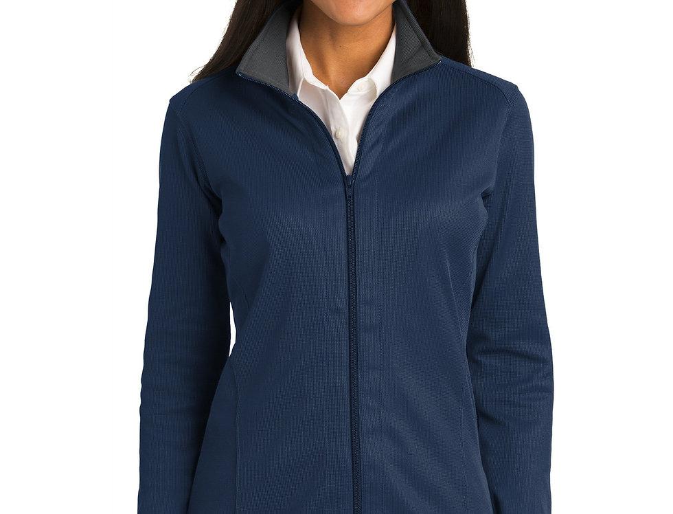 Port Authority® Ladies Vertical Texture Full-Zip Jacket L805