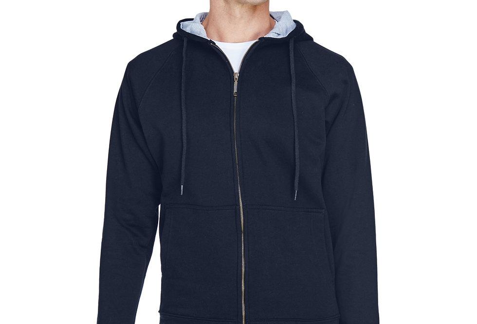 UltraClub Adult Rugged Wear Thermal-Lined Full-Zip Hooded Fleece 8463