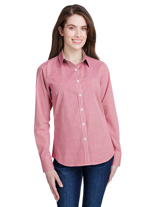 Artisan Collection Reprime Ladies' Microcheck Gingham Long RP320
