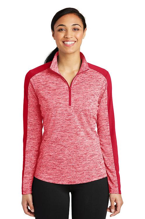 Sport-Tek® Ladies PosiCharge® Electric Heather Colorblock 1/4-Zip Pullover LST39