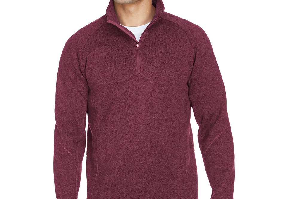 Devon & Jones Adult Bristol Sweater Fleece Quarter-Zip DG792