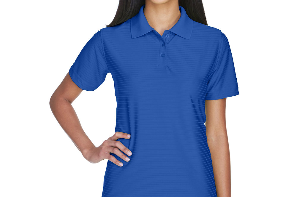 UltraClub Ladies' Cool & Dry Elite Tonal Stripe Performance Polo 8413L