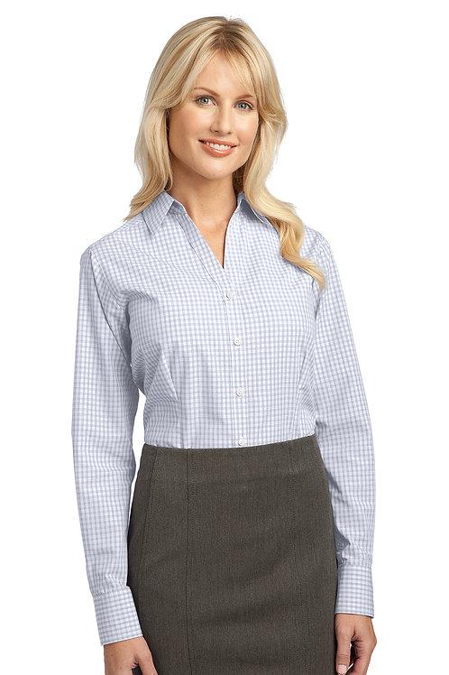 Port Authority Ladies Plaid Pattern Easy Care Shirt L639