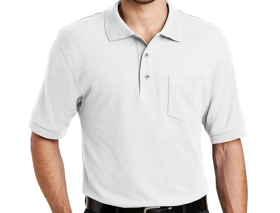 Port Authority Silk Touch Polo with PocketK500P