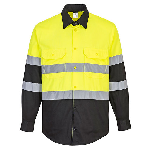 Two Tone ANSI Long Sleeve Work Shirt E066