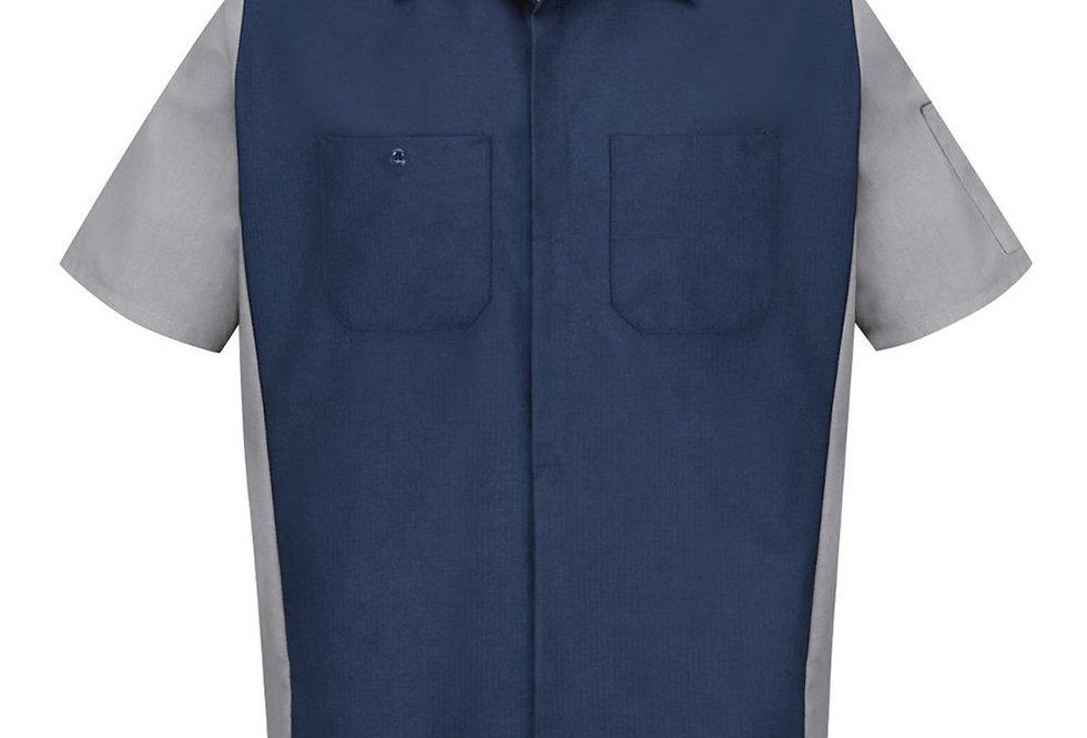 Red Kap - Short Sleeve Automotive Crew Shirt - Long Sizes - SY20L
