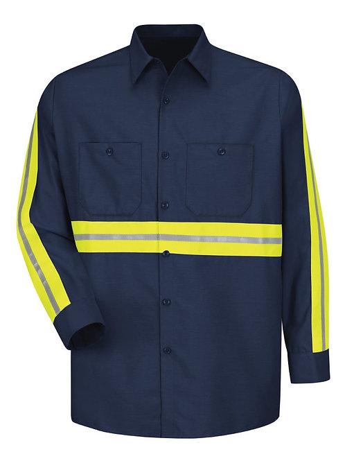 Red Kap - Industrial Enhanced-Visibility Long Sleeve Work Shirt - SP14E