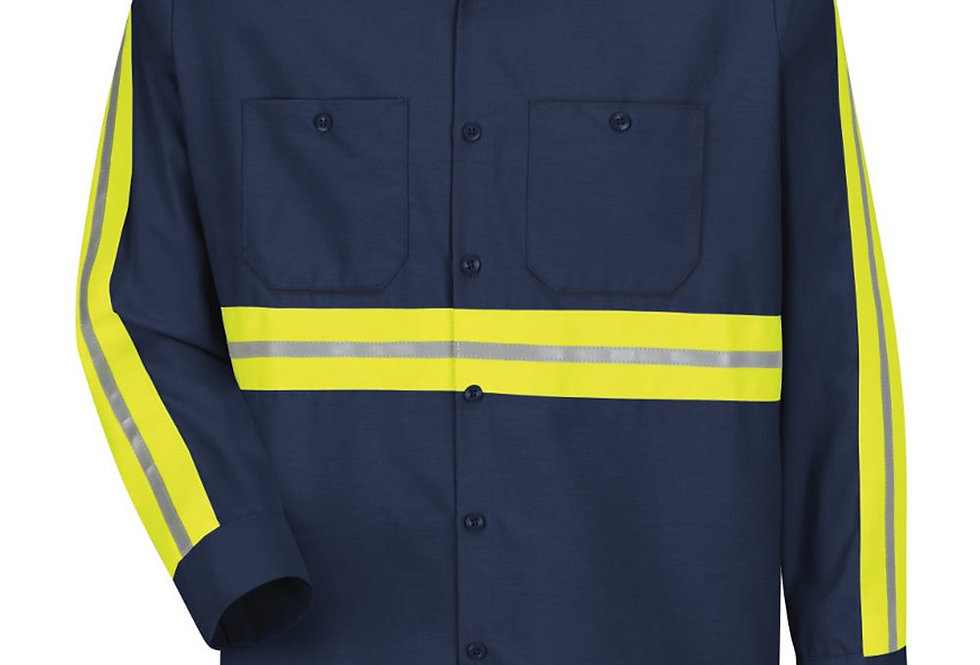 Red Kap - Industrial Enhanced-Visibility Long Sleeve Work Shirt - SP14E