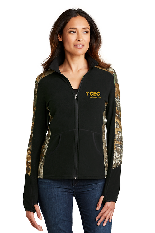 Port Authority® Ladies Camouflage Microfleece Full-Zip Jacket L230C