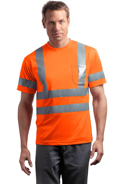ANSI 107 Class 3 Short Sleeve Snag-Resistant Reflective T-Shirt CS408