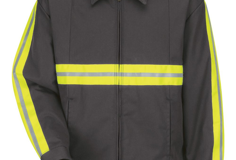 Red Kap - Enhanced Visibility Perma-Lined Panel Jacket - Long Sizes - JT50ENL
