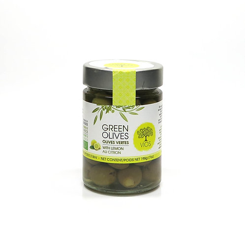 Grüne Olive in Salzlake mit versch. Füllung
