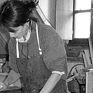 Isabelle Hocheid peintre dans son atelier