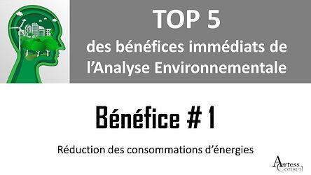 Benefices Analyse Environnementale