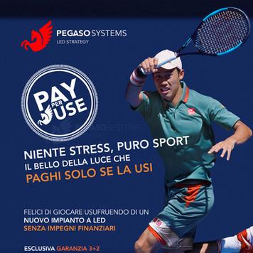 PEGASO Pay per Use pubblicità verticale