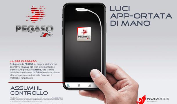 Pegaso IoT Luci app-ortata di mano
