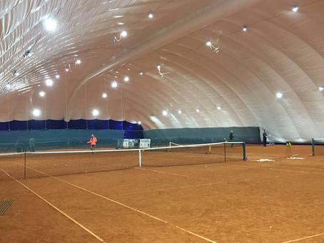 Il Circolo Tennis Trento inaugura la nuova copertura pressostatica ILLUMINATA CON FARI PEGASO