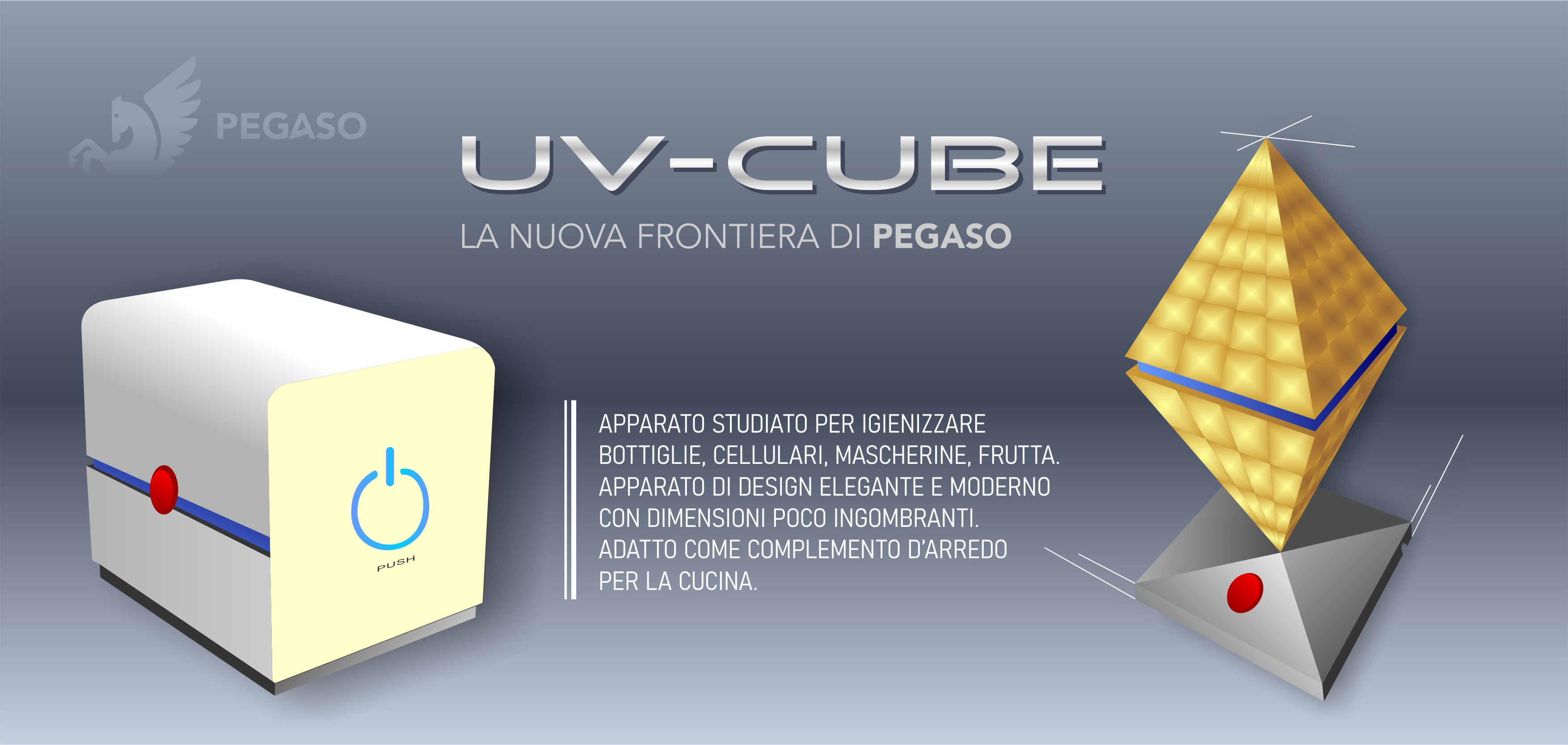 UVCube con cubo