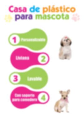 Casa de plástico para mascotas