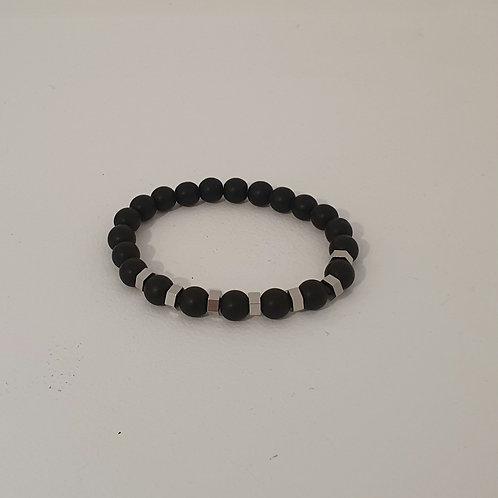Bracelet en perles naturelles élastique
