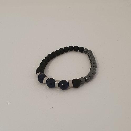 Bracelet élastique en perles naturelles inoxydable