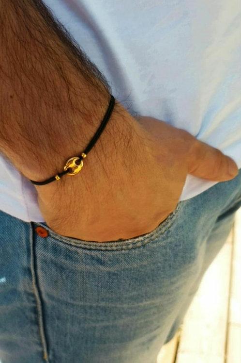 Bracelet élastique grain de café acier inoxydable
