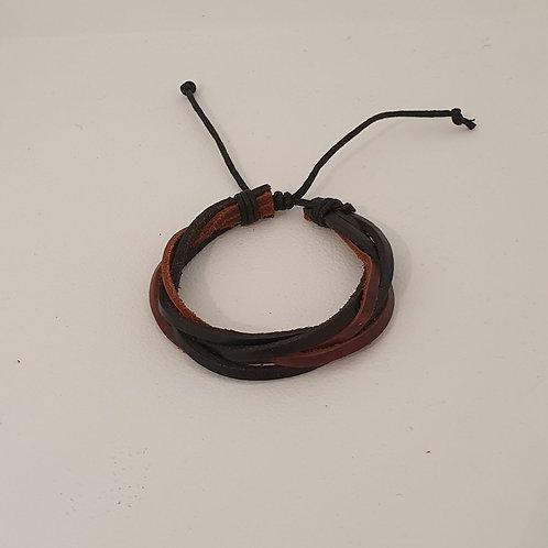 Bracelet en cuir réglable