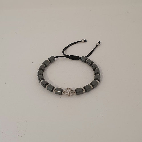 Bracelet perles naturelles réglable inoxydable