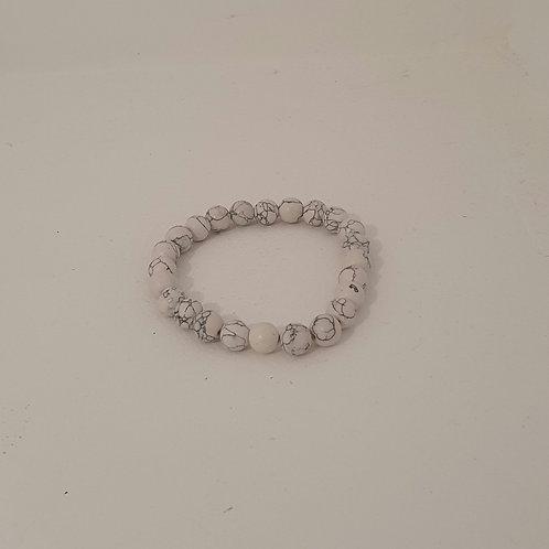 Bracelet élastique en perles naturelles