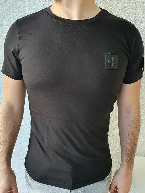 Tee-shirt Stone Island noir plusieurs tailles disponibles