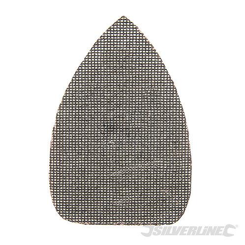 Hook & Loop Mesh Triangle Sheets 140 x 100mm 10pk – Silverline - CODE: 724443