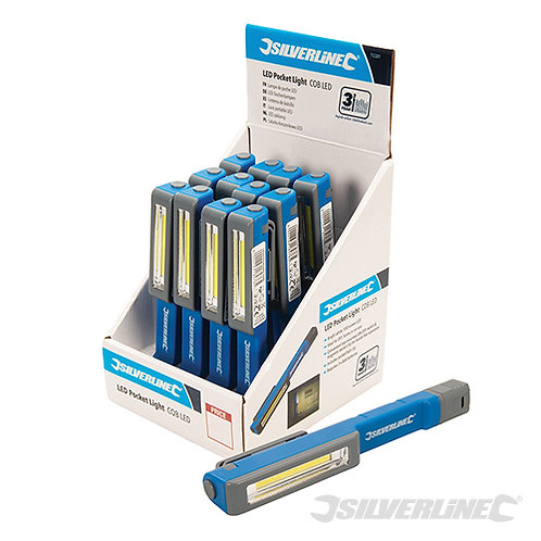 LED Pocket Light Display Box 12pce --- Silverline --- CODE: 753301