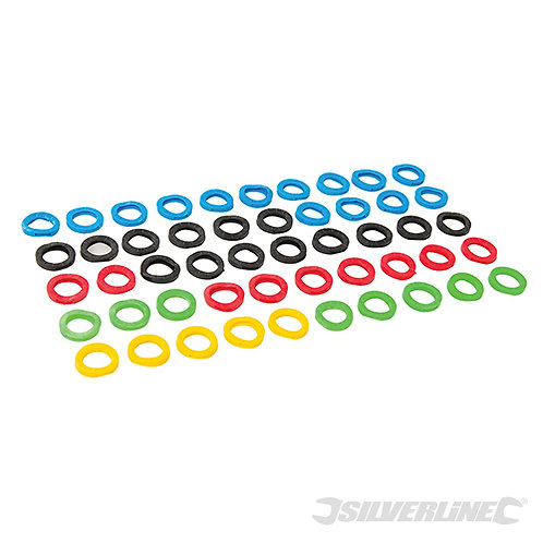 Coloured Plastic Key Covers 50pk --- Silverline --- CODE: 431620