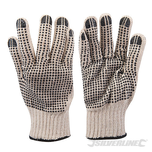 Double-Sided Dot Gloves --- Silverline --- CODE: 783131
