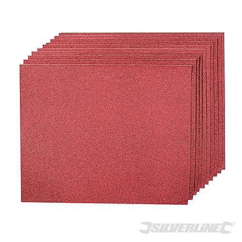 Aluminium Oxide Hand Sheets 10pk --- Silverline --- CODE: 102925