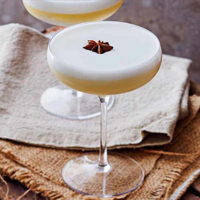 Let's Spice it Up, Spiced Pear Gin Fizz