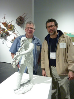 with Richard Notkin, one of the jurors of the Biennial